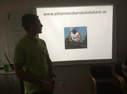 Jag på slutet av min föreläsning. Foto: Elin Vesterskov