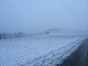 Snön kom tillslut till Österlen