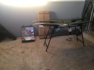Premiär för det nya vallabordet...... i en ny men icke använd kobox
