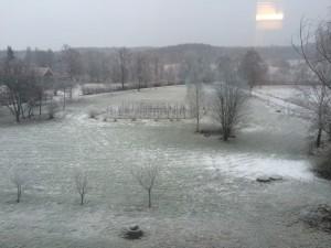 Innan det började snöa på lördagen.