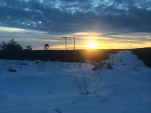 Fin solnedgång........förutom kraftledningen
