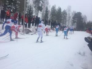 Resten av gänget i herrarnas sprintfinal