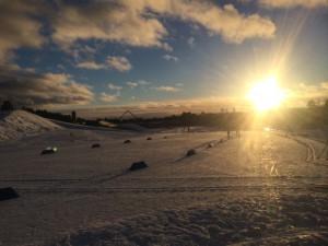 Dagen innan Skandinavisk cup drog igång med 15 km fristil i början av januari i år. Här vill jag både leva och bo.