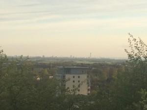 Såg Torno Turso och Öresundsbron på toppen av backen.
