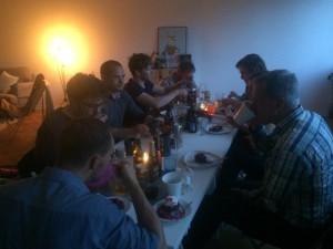 Hela middagsgänget, tyvärr kunde inte alla komma.