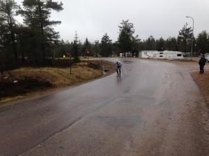 Kämpade på med några hundra meter kvar, segt var det! Foto: Håkan Huselius