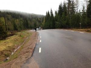Här kommer jag i backen. Foto: Håkan Huselius
