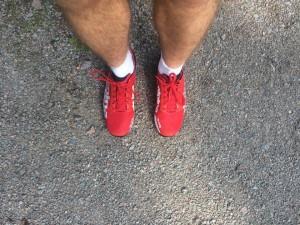 Körde mitt första fartpass i dessa röda skor, gick fint !
