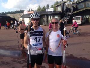Jag och Freya efter gårdagens skatelopp. Foto: Håkan Huselius