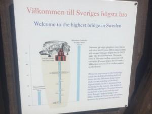 Sveriges högsta bro tydligen.