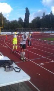 Jag och Måns vid start. Foto: Johan Andersson