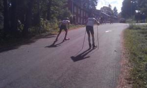 Fin bild, på två trötta tuffa åkare. Foto: Johan Andersson