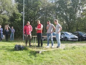 Prispallen.......eller gräspallen, jag, Philip och Lasse.