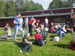 Skånska gänget från klubben, Bengt blev 3:a i H50 och Maria 2:a i D21. Fotografen själv blev en fin fin 5:a i H21. Foto:Oskar Henriksson