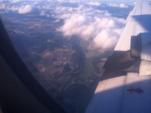 Bild på morgondagens bana........från luften, arrangörerna hade ju missat det......