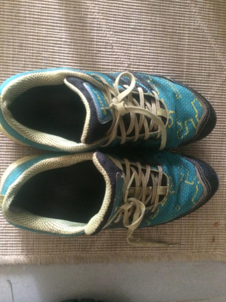 Mina skor som så snällt väntade på mig på morgonen. Icebug Amina.