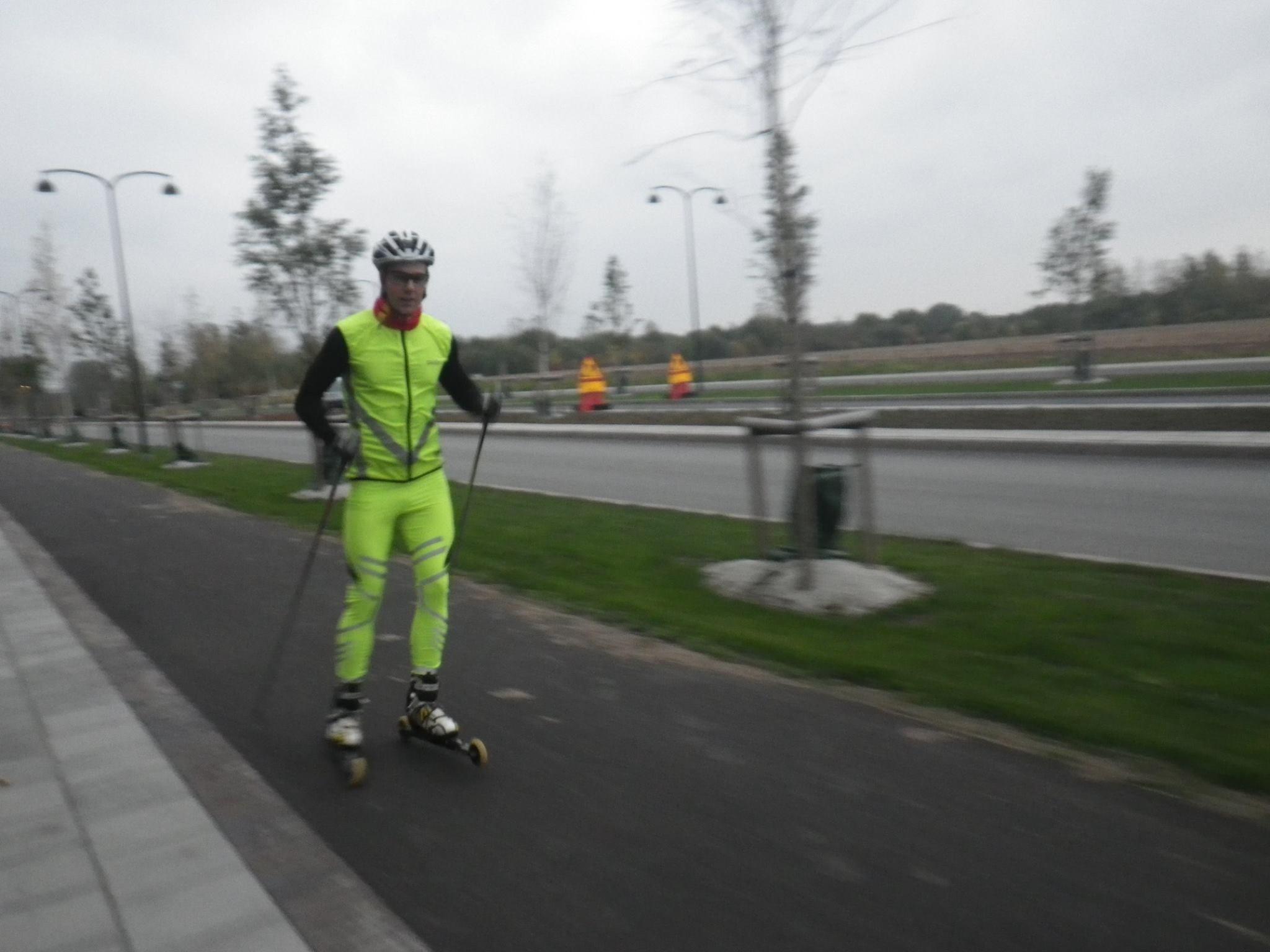 Så här tydligt syntes Håkan idag, bild från ett skatepass med Oskar för två veckor sedan. Foto: Oskar Henriksson