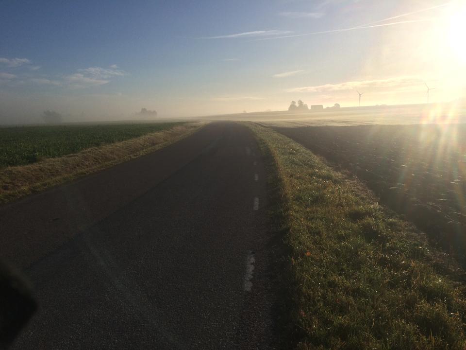 Fin morgon med diss och härligt frisk luft.