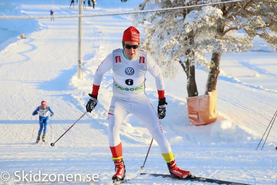 Bild från dagens lopp där Nils Holgerson åkte, ingen vacker syn.
