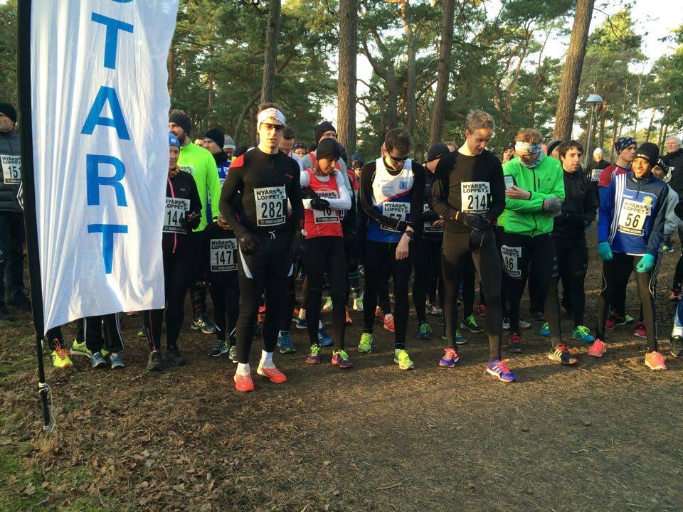 Man har ju dubbel så stor överkropp än alla andra små löpare. Inte lätt att konkurrera när musklerna på överkroppen ska syresättas. Foto: Karin Andersson