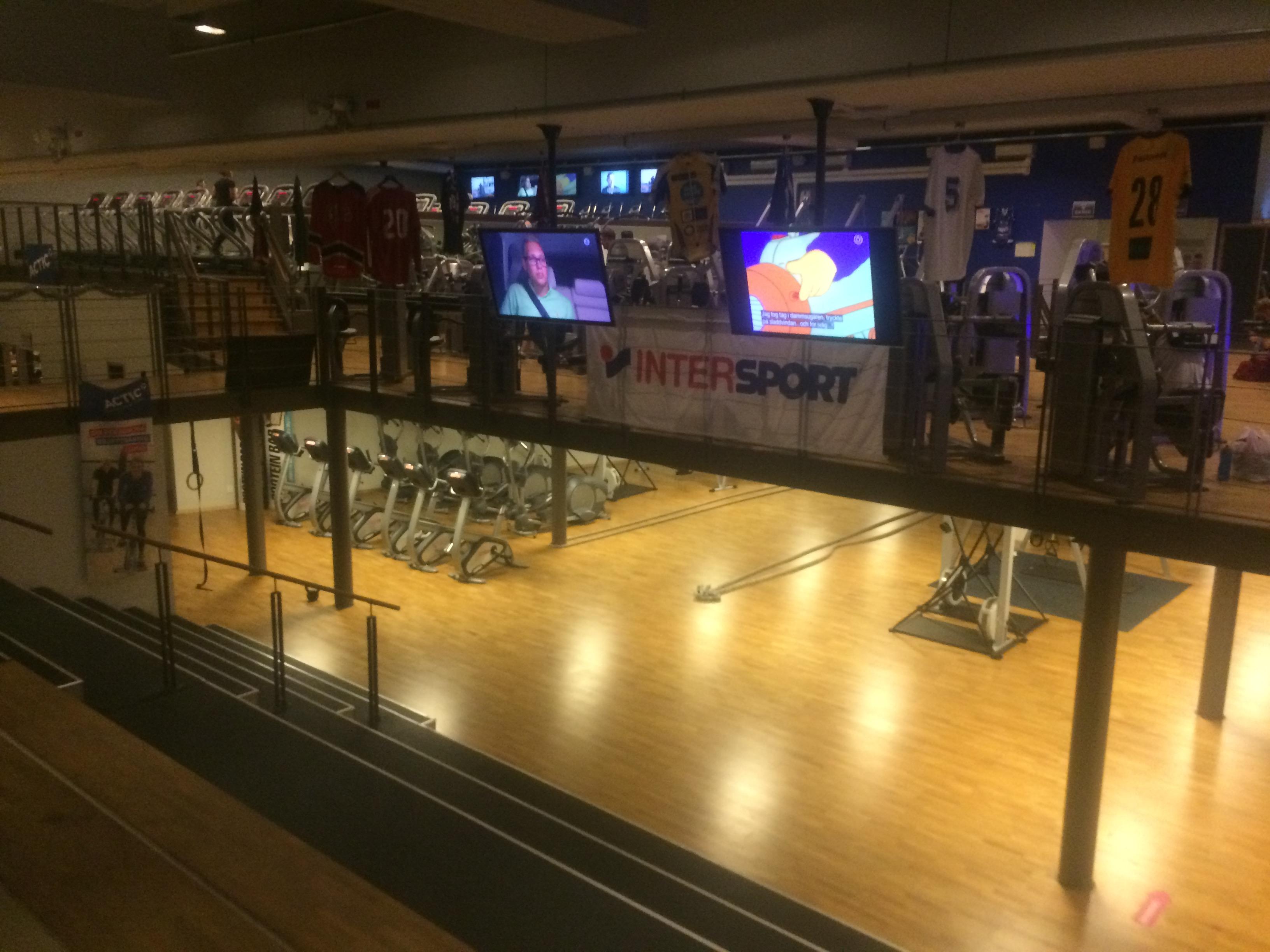 Actic Olympen har två våningar stort gym.