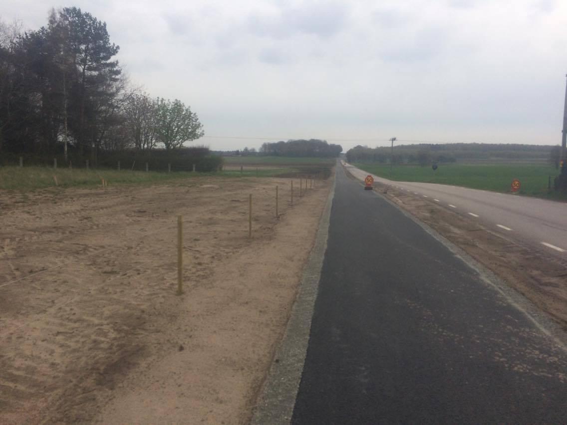 Den nya cykelvägen mellan Sövde och Blentarp. Inte den roligaste direkt, långt och flack.