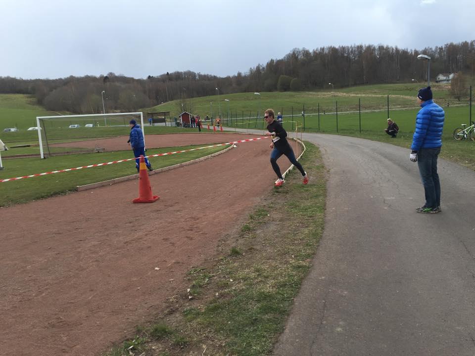 In mot mål i 5,5 km loppet. Foto: Håkan Huselius