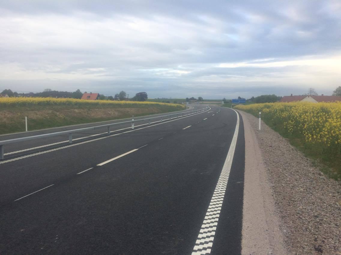 Nya vägen som går runt ST: Herrestad