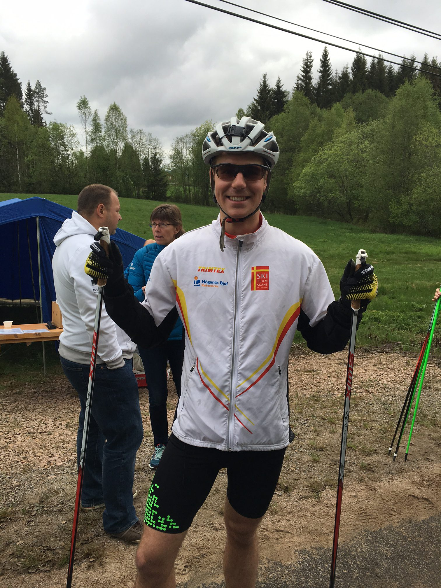 Var i alla fall glad innan start. Foto: Håkan Huselius