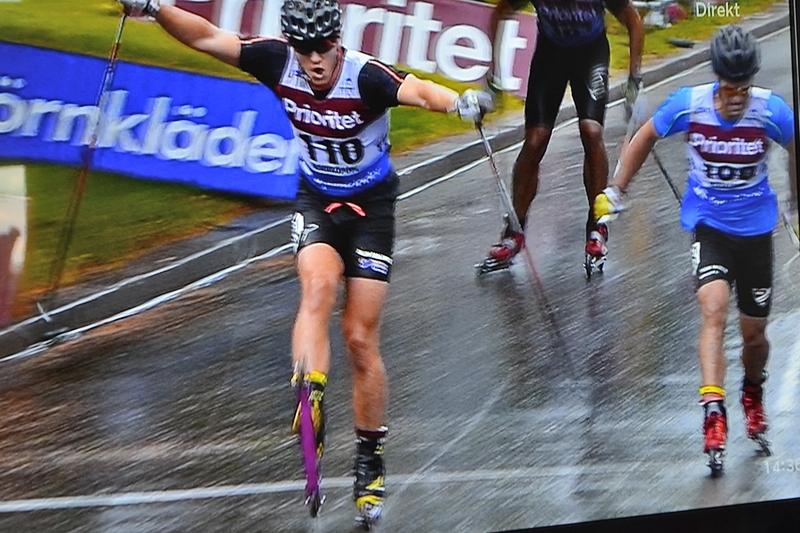 Anton Hedlund vann. Foto: SVT- sändningen