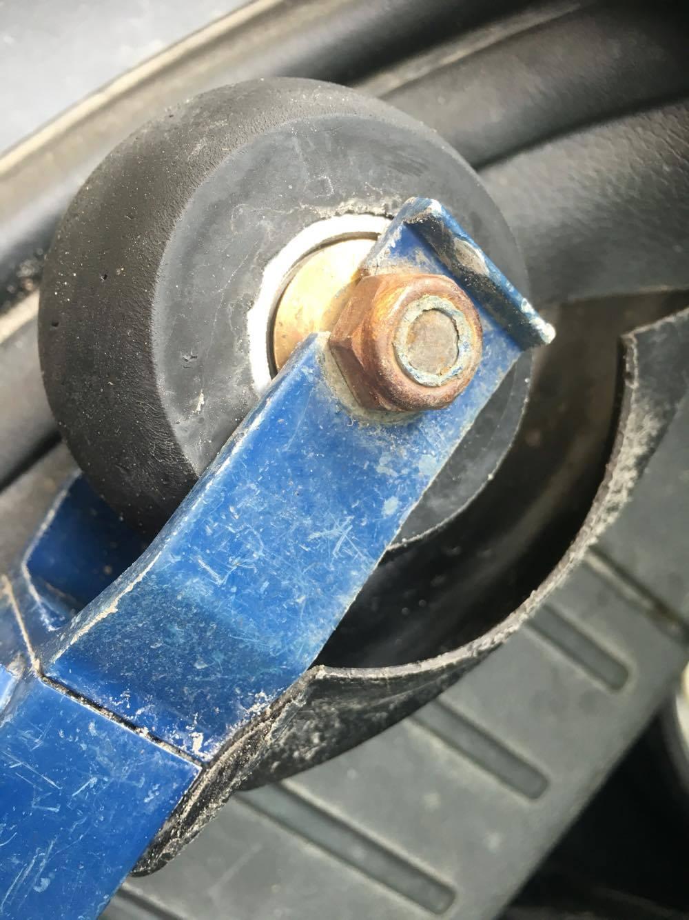 Hjulen som skar sig idag.
