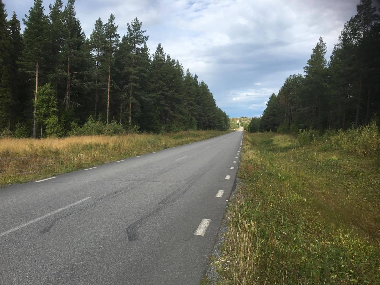 Få platser det är så platt i Jämtland som på vägen mot Kännåsen där jag även startade dagens intervaller. Där bilden tar slut om man nu ska försöka förklara sig.