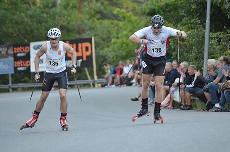Bild från en av helgens tävlingar under Alliansloppet, mer bestämt Still Hill Race där jag blev förnedrad och omåkt i direktsändning, king det! Foto: Johan Trygg/längd.se